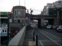 SY6778 : Weymouth Town Bridge and Quay Tramway by John Lucas