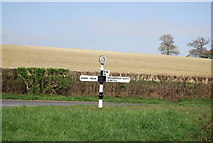 TQ1328 : Finger post, Weston's Hill, Christ's Hospital Rd junction by N Chadwick
