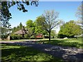 ST3608 : Whitedown Lodge, at entrance to Cricket Park by David Gearing