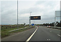 NS6569 : Weather forecast on Stepps bypass by John Firth