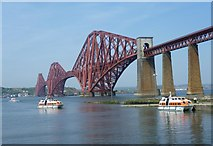 NT1378 : Forth Bridge and the Hawes Pier by kim traynor