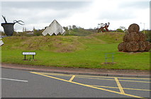 SO9590 : Castle Gate Island sculptures, Dudley by Jaggery