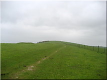 TQ4705 : South Downs Way approaching Firle Beacon by Chris Heaton