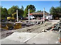 SJ9594 : Rebuilding the Shell station by Gerald England