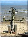 TG2938 : Wooden groyne at Trimingham beach by Evelyn Simak