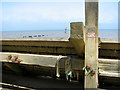 TG2938 : Memorial on revetment below Trimingham by Evelyn Simak