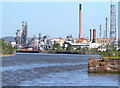 SJ4176 : Stanlow Petrochemicals Depot and Refinery, Manchester Ship Canal by David Dixon