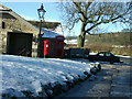 SE0753 : Bolton Abbey Village on a winter's day by John M Wheatley