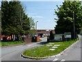SO1107 : Entrance to a factory site, Maerdy Industrial Estate, Rhymney by Robin Drayton