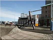 SY6878 : Anchor outside Weymouth Pavilion by Paul Gillett
