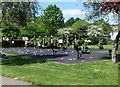 TQ2584 : Exercise machines in Kilburn Grange Park by Jaggery