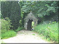 SW7752 : Lych gate at St Piran's Church Penhallow by Rod Allday