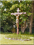 SD6900 : Crucifix, St Ambrose Barlow Church by David Dixon