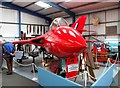 SU9006 : Red Hawker Hunter, Tangmere Military Air Museum by nick macneill