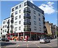 TQ2484 : Sainsbury's Local under a block of flats, Kilburn by Jaggery