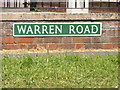 TG5200 : Warren Road sign by Adrian Cable
