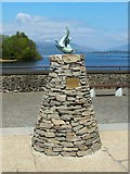"""NS3882 : """"Teko"""": otter statue at Loch Lomond Shores by Lairich Rig"""