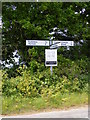 TM5187 : Gisleham Roadsign by Geographer