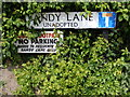 TM5186 : Sandy Lane sign by Adrian Cable