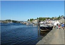 NR8668 : East Loch Tarbert and Harbour Street by Rob Farrow