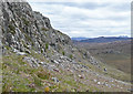NG8269 : Line of crags south of Mullach nan Cadhaichean by Trevor Littlewood