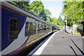 NY4654 : DMU pauses at Wetheral station on its way to Newcastle by Roger Templeman
