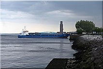 SJ3290 : Niklas, Alfred Dock Entrance, River Mersey by El Pollock