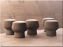 TQ2679 : Cork-covered stools, Serpentine Gallery Pavilion 2012 by David Hawgood