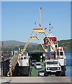 NM6744 : Disembarking at Lochaline by Anne Burgess