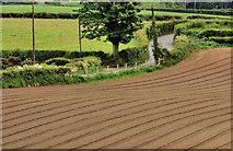 J2965 : Ploughed fields, Tullynacross near Lisburn (1) by Albert Bridge