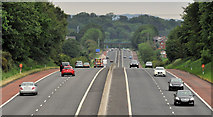 J2965 : The M1, Tullynacross near Lisburn (3) by Albert Bridge
