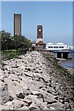 SJ3290 : Clock Tower and Tunnel Vent, Seacombe by El Pollock