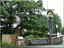NY4756 : George pub sign, Warwick Bridge 2007 by Rose and Trev Clough