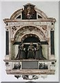 TL9568 : St George, Stowlangtoft - Wall monument by John Salmon