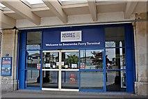 SJ3290 : Entrance, Mersey Ferry Terminal, Seacombe by El Pollock