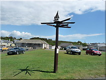 NX3343 : Millennium Signpost by Billy McCrorie