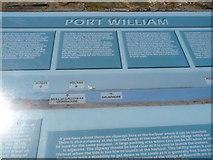 NX3343 : Port William Information Board by Billy McCrorie