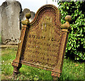 J4493 : Headstone, Templecorran old Church, Ballycarry (3) by Albert Bridge