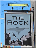 TQ3303 : Sign for The Rock, Rock Street, BN2 by Mike Quinn