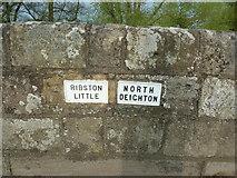 SE3953 : Parish boundary on Crimple Bridge by Alexander P Kapp