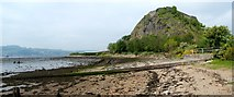 NS4074 : Old slipway at Dumbarton foreshore by Lairich Rig