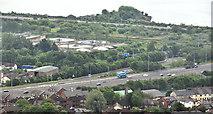 J3479 : The M2 hill section, near Greencastle, Newtownabbey by Albert Bridge