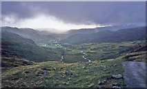NY2201 : Low cloud at Hardknott Pass by Trevor Rickard