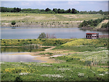 SP9314 : Looking towards the Octagon Hide at College Lake, near Tring by Chris Reynolds