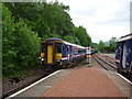 NN3115 : On The West Highland Line : Passing Trains at Ardlui Station by Richard West