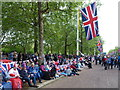 TQ2980 : Crowd along The Mall - Diamond Jubilee Celebrations for Queen Elizabeth II by Richard Humphrey