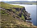 NG1551 : Cliffs at Eas Aboist by Richard Dorrell