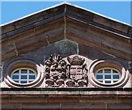 NS3978 : Strathleven House: heraldic details by Lairich Rig
