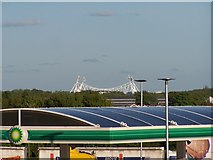 SD6211 : The Reebok Stadium viewed from the Rivington Services, M61 Southbound by Terry Robinson