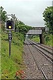 SJ2992 : Signal and road bridge, Wallasey by El Pollock